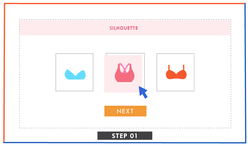 illustration of picking the category in runway kit ready styles