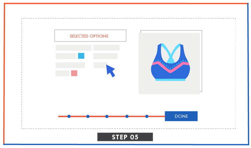 illustration of order summary stage in runway kit ready styles