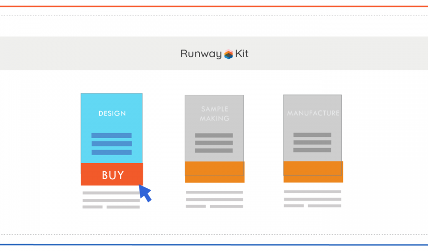 illustration of ready styles package being clicked